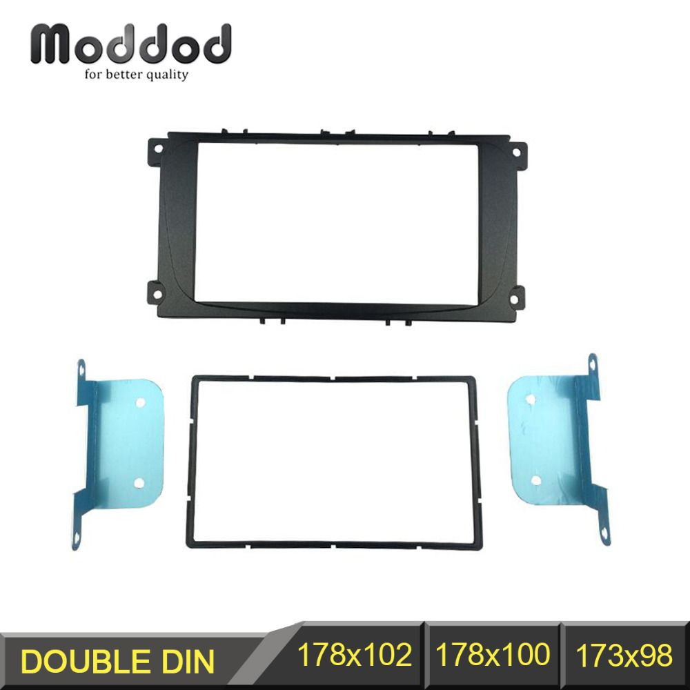 Autoradio 2 Din Fascia pour Ford Focus II Mondeo Kuga S-max C-max Galaxy II Stéréo Dash Kit L'installation Convenable Garniture de Tableau de Cadre