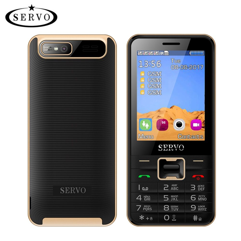 Quad Sim de téléphone portable Quadri-Bande 2.8 pouce 4 SIM cartes 4 veille Téléphone Bluetooth lampe de Poche MP3 MP4 GPRS Russe Langue clavier