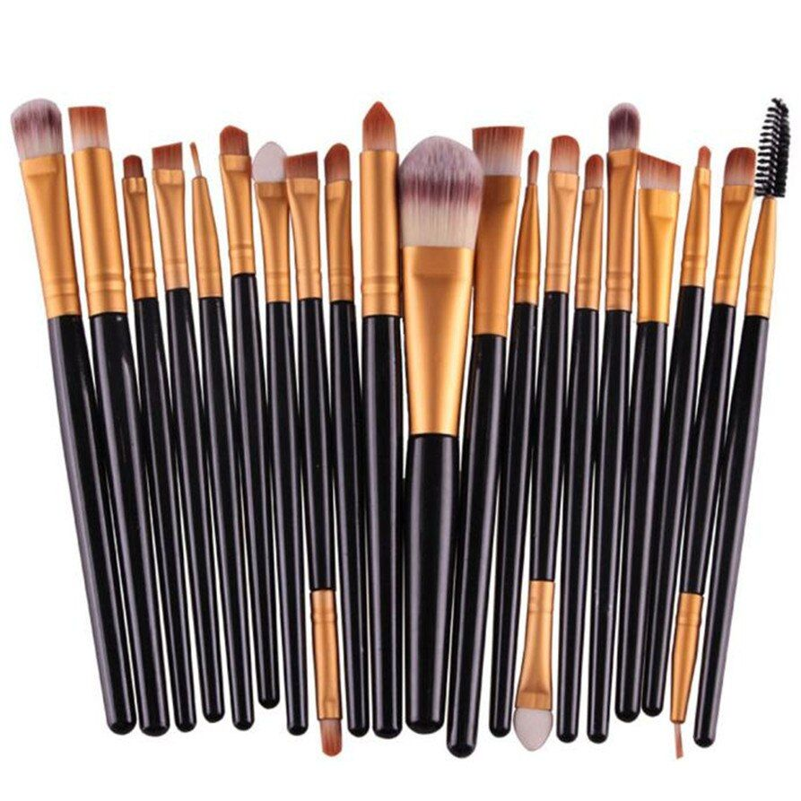 MAANGE 20 pcs/ensemble Maquillage Brush Set outils Make-up Kit de Toilette Laine Make Up Brush Set maquillage brushe de baisse gratuite 1123 libèrent le bateau