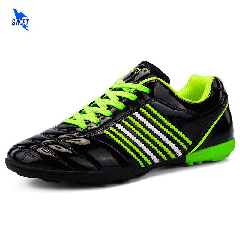 17 18 nuevo 32-45 césped al aire libre Zapatillas de Soccer unisex Athletic Training fútbol Botas niños sneakers para hombre duro corte Futsal tacos