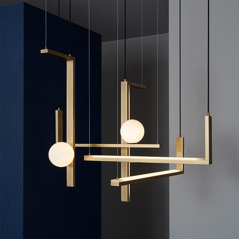 Europa Design Platte Gold Metall Led Anhänger Lichter Esszimmer Glanz Led Hängen Lampe Minimalismus Gerade Auszusetzen Lampe Leuchten