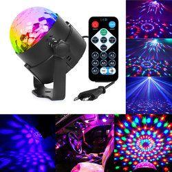3 W Mini RVB Cristal Magic Ball Sonore Activé Disco Boule étape Lampe Lumiere De Noël Projecteur Laser Dj Club Light Party spectacle