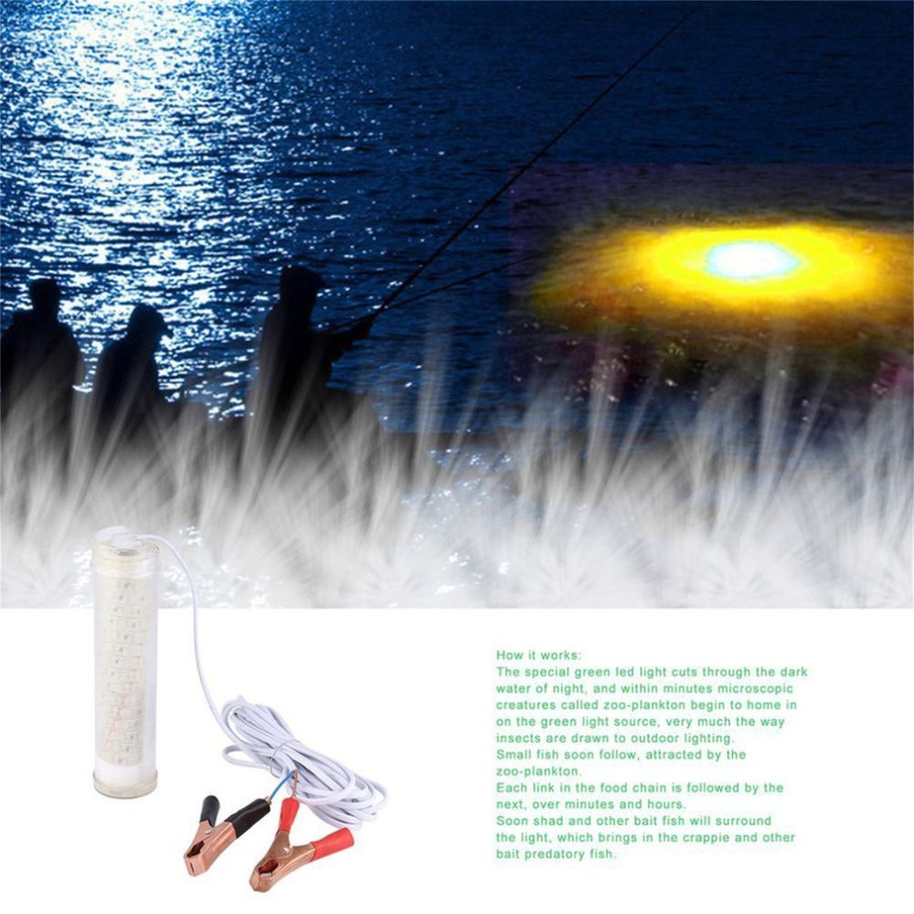 104 STÜCKE LED Unterwasser Tauch Nachtangeln Licht Angelgerät Wasser Crappie Shad Tintenfisch Für Schiffsanlegestellen Piers 25 Watt LED lampe FreeShip