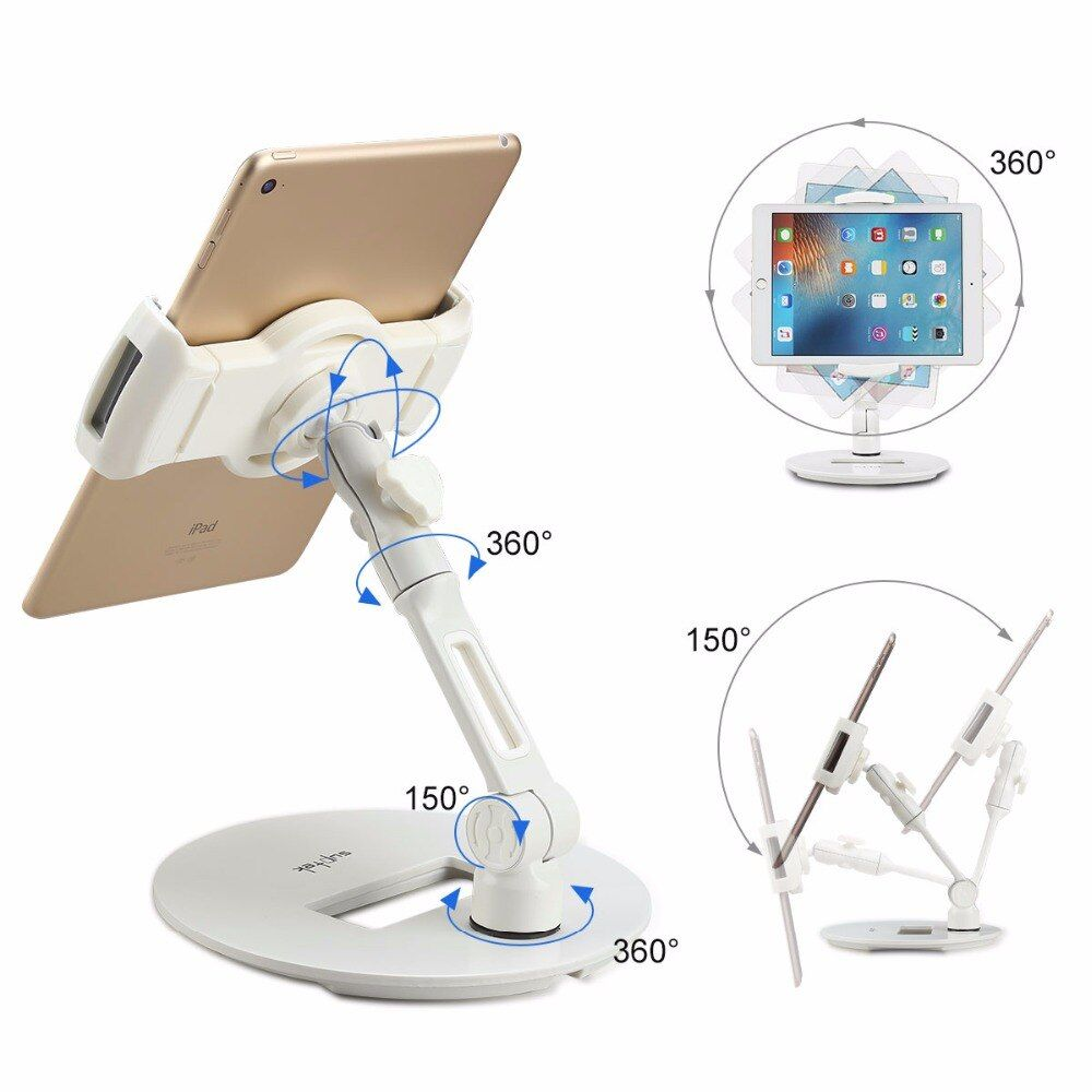 360 Degree Adjustable Stand Holder for Tablets(up to 11 inches) and  Smartphone mount