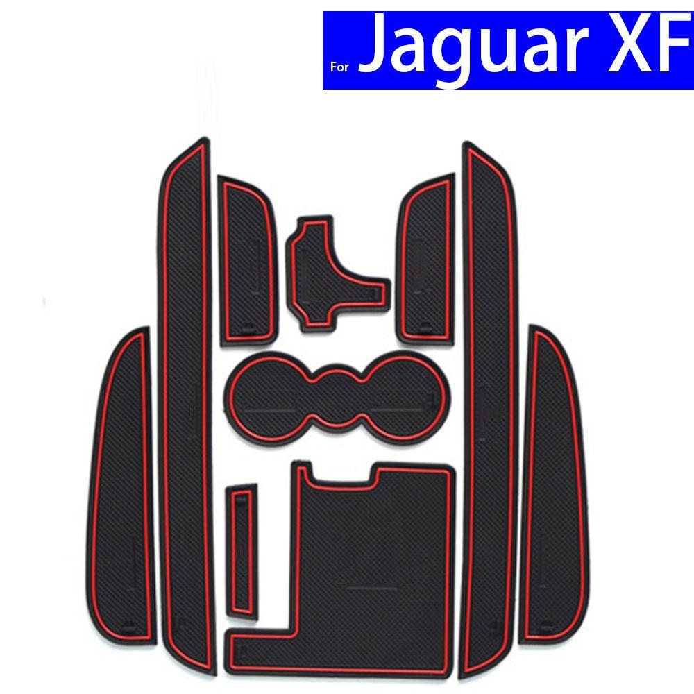 Non-slip Car Door Slot Mats Gate Carpets Position Cup Holder Pads For Jaguar XF 2011 2012 2013 2014 2015 Door Groove Mat