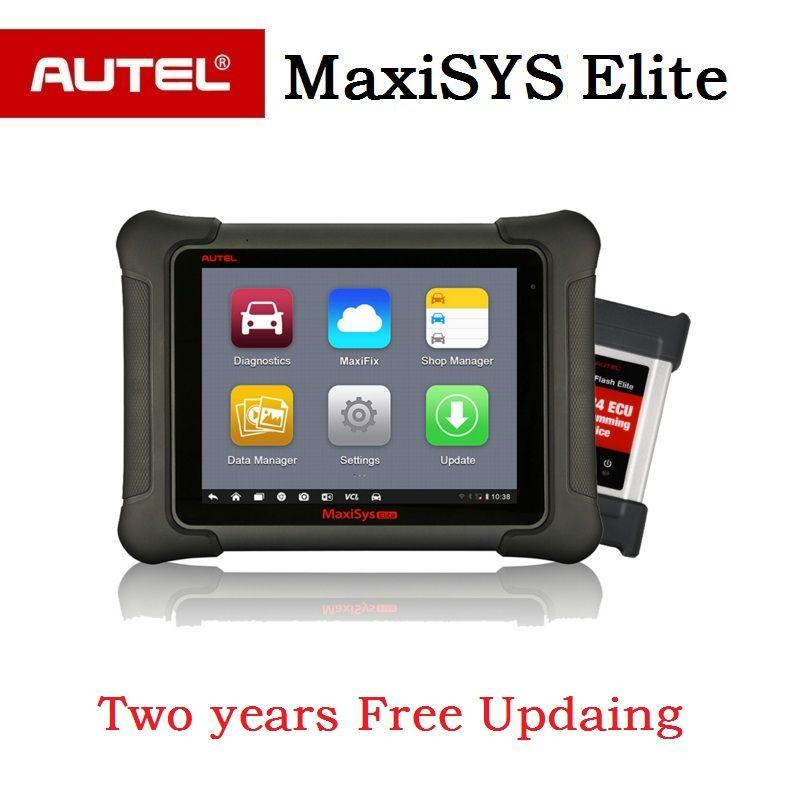 AUTEL MaxiSys Elite Auto diagnostic Programming OBD2 Scanner car Diagnostic tool J2534 ECU programmer PK maxisys pro ms908 pro