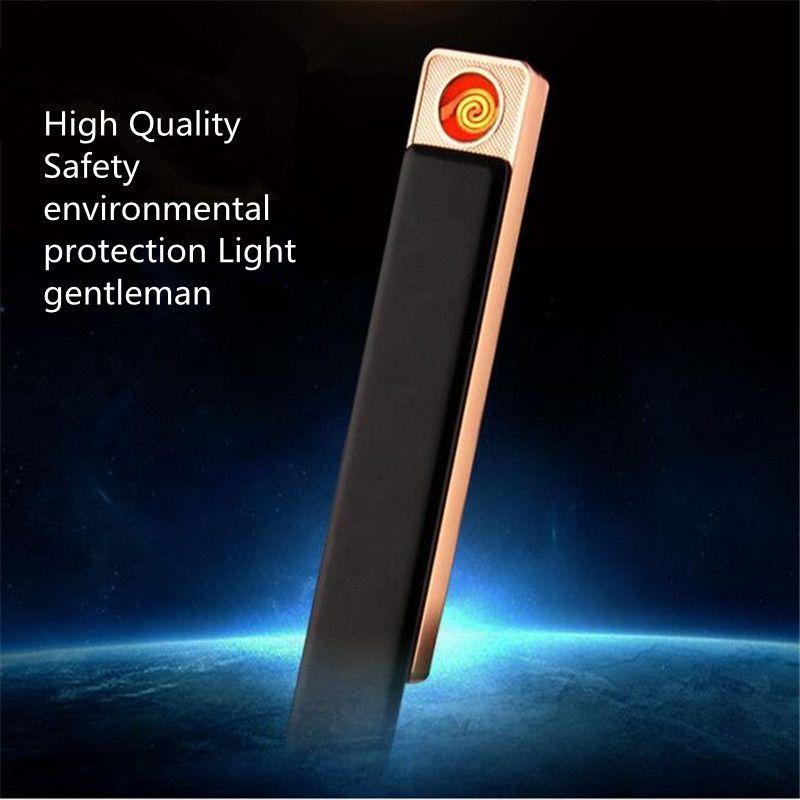 Nouvelle Personnalité Créative USB Rechargeable Briquets Muet Électronique Fièvre Voiture Allume-cigare Festive Creative Cadeaux Pour Hommes