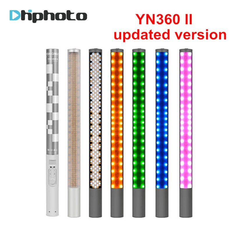 Yongnuo YN360 YN360 II Handheld Ice Stick LED Video Light built-in battery 3200k to 5500k RGB colorful controlled by Phone App