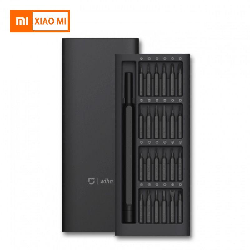 New Original Xiaomi Mijia Wiha utilisation quotidienne trousse de tournevis 24 Précision Magnétique Bits AL Boîte tournevis Ensemble à la maison intelligente Cadeau