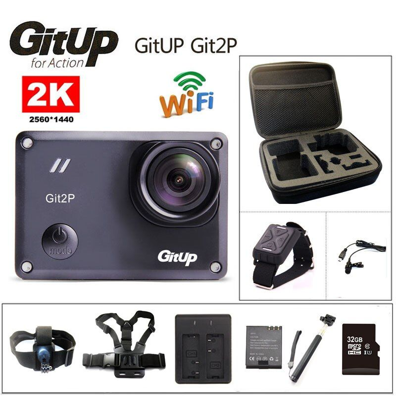 Action camera deportiva Original GitUp Git2P Novatek 96660 remote Ultra HD 2K WiFi 1080P <font><b>60fps</b></font> go waterproof pro Git2 P camera