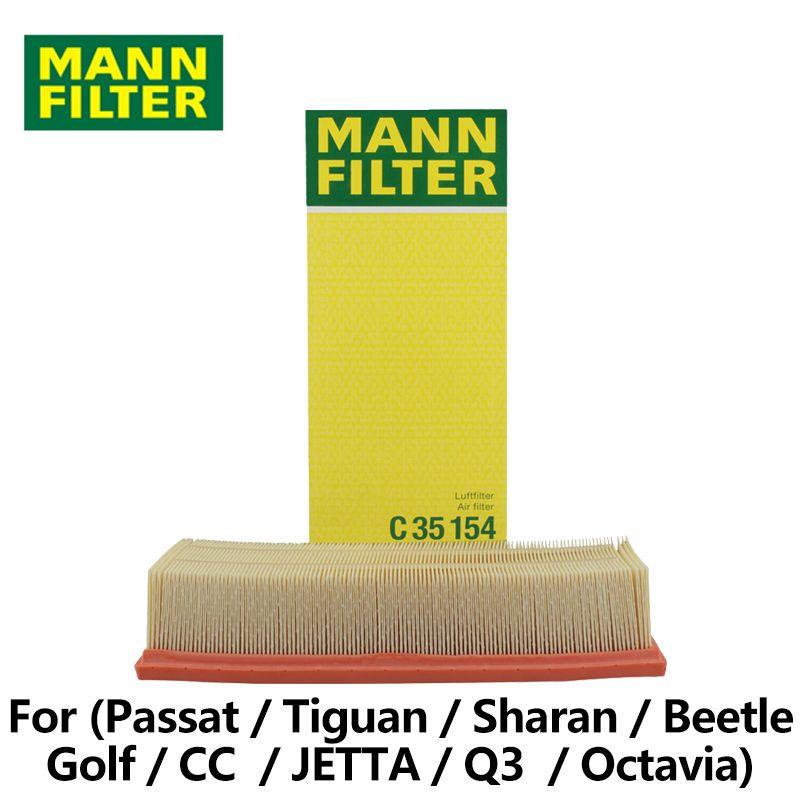 MANN FILTER Car Air Filter For VW Passat Tiguan Sharan Beetle Golf CC JETTA Q3 SKODA Octavia C35154 auto part