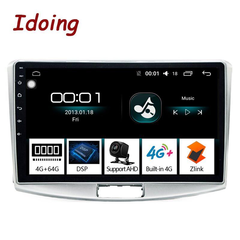 Idoing 10,2 4G + 64G 2.5D IPS DSP 8 Core Auto Android 8.1 Radio Multimedia Player Fit PASSAT b7 Eingebaute GPS-Navigation und GLONASS