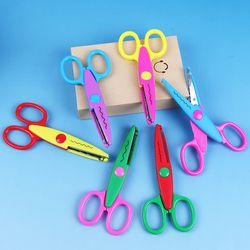 6 PCS BRICOLAGE Outils 6 Modèles Laciness Enfant BRICOLAGE Ciseaux Album Papier Journal Décoration Sécurité Ciseaux