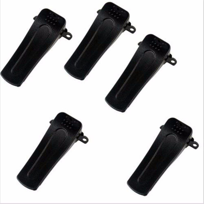 5PCS Belt Clip for H777 Hot Model Baofeng Radio BF-666S BF-777S BF-888S 666S 777S 888S Walkie Talkie Accessories Black