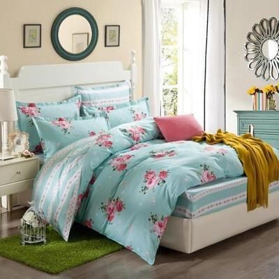 2017 Fashion Bedding sets 6pcs duvet doona quilt fitted cover ned sheet 100% cotton king queen full twin size bedclothes linens