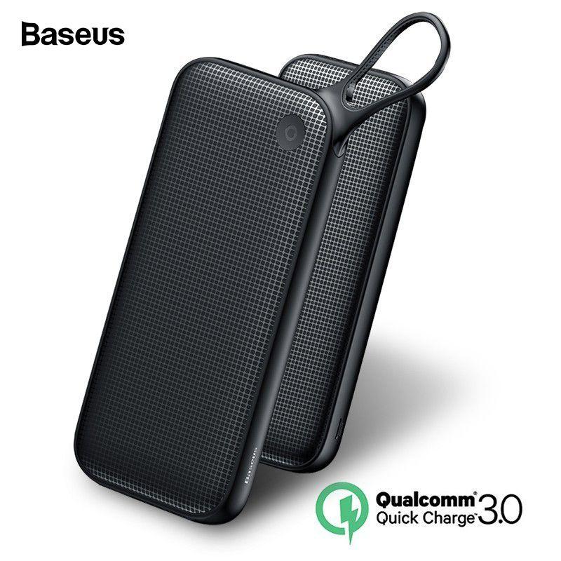Baseus 20000mAh Quick Charge 3.0 Power Bank 20000 mAh USB C Pover Poverbank Portable Charging External Battery Charger Powerbank