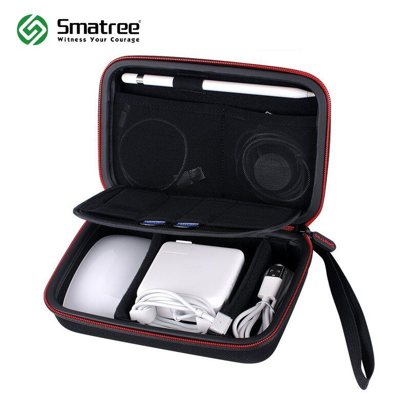 Smatree Portable Hard Case A90 Waterproof Hardshell Handbag for Apple Accessories <font><b>Protective</b></font> Durable Carrying Bag Black