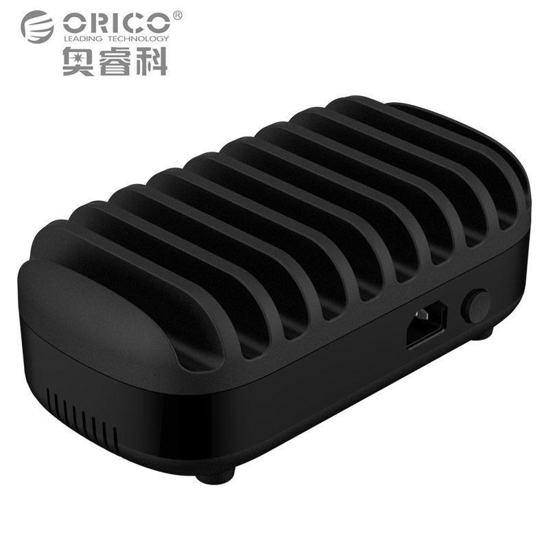 ORICO 10 Порты USB Зарядное устройство 120 Вт 5v2. 4A Смарт-Профессиональный зарядная док-станция с держателем подставка для iPhone 7 6S Запасные Аккумуля...