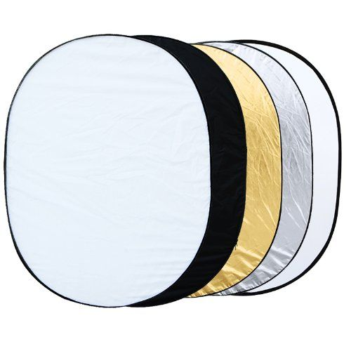 EDT-5 in 1 collapsible reflector oval photo studio 90 x 120 cm (35 x 47 ')
