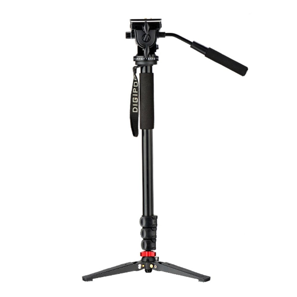 DIGIPOD Aluminum Fluid Video Head 69inch Monopod with Folding Three Feet Support Stand MP-274VH