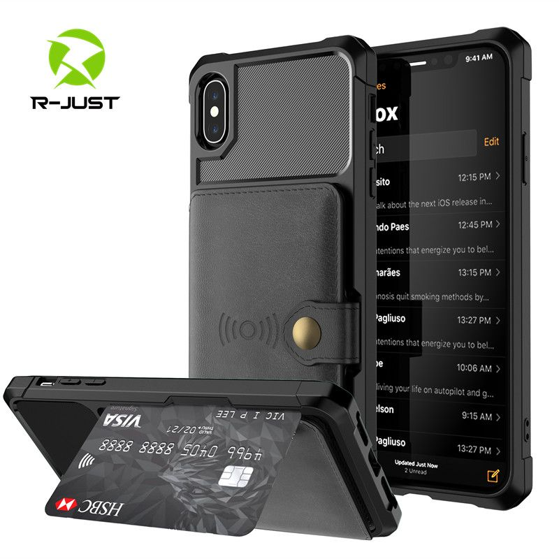 Luxury Retro PU Leather Magnetic absorption Wallet Case for iPhone X XS MAX XR 6 6s 7 8 Plus Cases Multi Card Holders Flip Cover