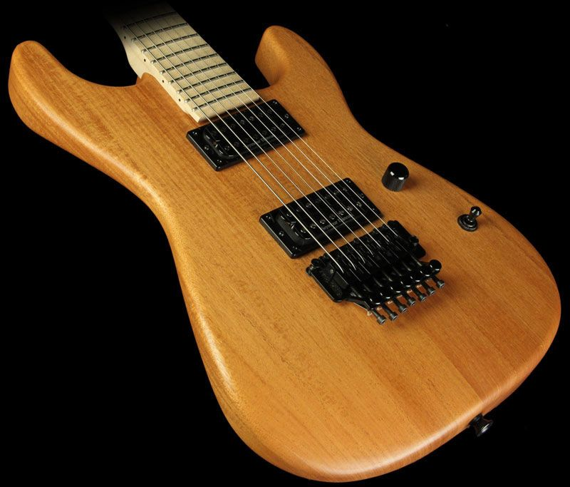 GC Custom Shop NAMM One-Off 7 String Mahogany San Dimas Electric Guitar Natural