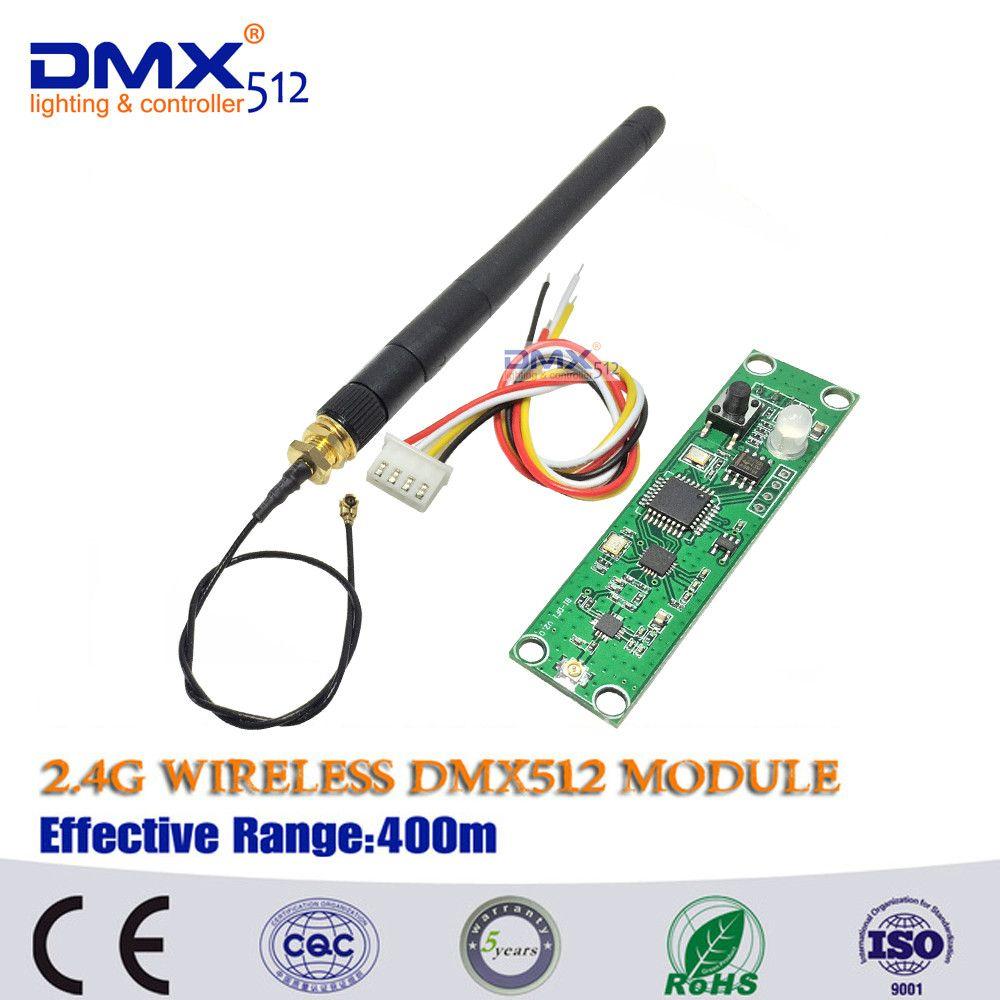 Carte de Module de carte PCB émetteur sans fil DMX512 2.4 Ghz avec antenne LED de contrôle récepteur Wifi
