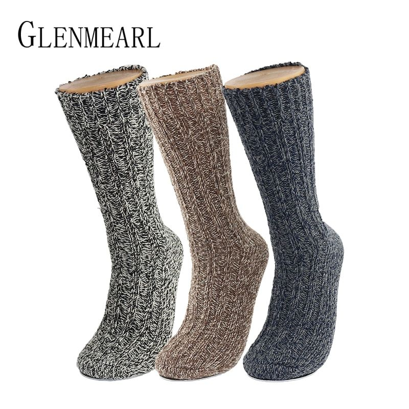 3PK laine mérinos femmes/hommes chaussettes Top Grade marque chanvre hiver chaud épais Coolmax Compression bonneterie botte de neige dames/hommes chaussettes