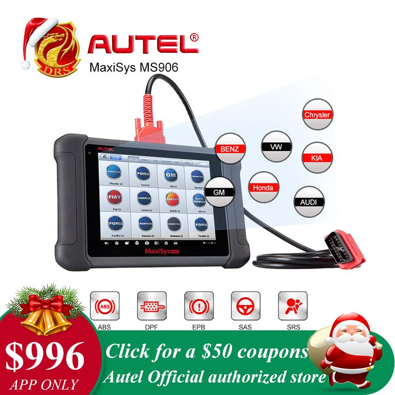 Autel MaxiSys MS906 Automotive Full System Diagnostic Package MS 906 Powerful than MaxiDAS DS708 Update Online