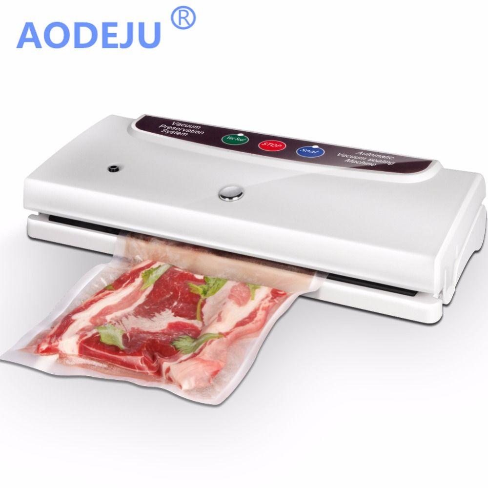 AODEJU 220V/110V Household Food Vacuum Sealer Packaging Machine Food Saver Commercial Vacuum Packer Including 10Pcs Bags