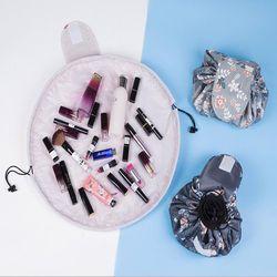 La portabilité Magique Voyage Pouch Sac Cosmétique Maquillage Sacs cordes barrel en forme de Sacs De Stockage De Boîte De Stockage De Toilette Organisateur Cas