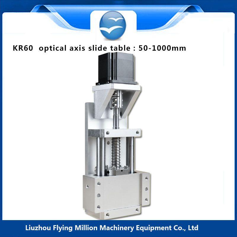 Linearantrieb system Linearmodul Tabelle 50-1000mm reise länge CNC Guide 1605 Kugelumlaufspindel Schiebetisch KR60