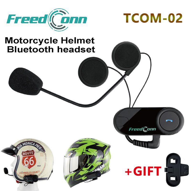 Casque de Moto TCOM-02 gratuit casque de Moto Bluetooth casque de Moto Casco contrôle sans fil pour Radio MP3/4
