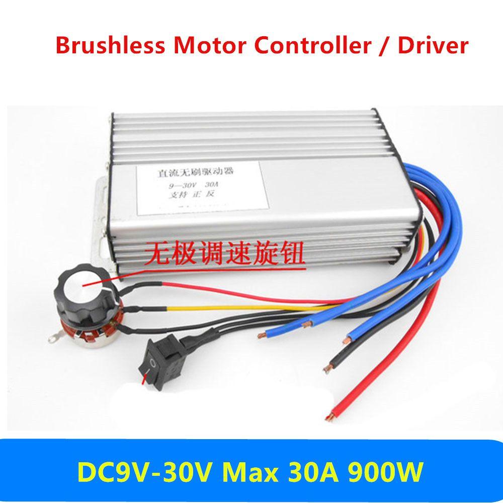 DC9V-30V 30A 900W DC Motor Speed Controller Regulation Switch Brushless Motor Driver Electric Motor Governor DC9V 12V 24V