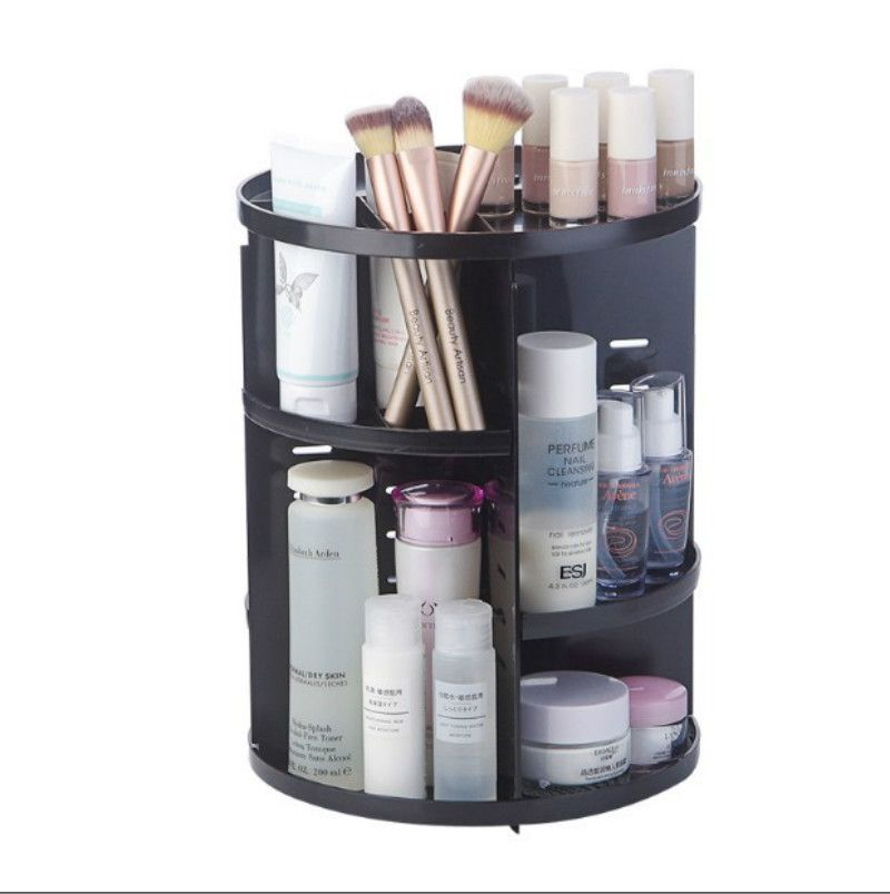 Makeup <font><b>Organizer</b></font> 360 Degree Rotation Adjustable Multi-Function Cosmetic Storager, Large Capacity Fits Different Type of Cosmetic