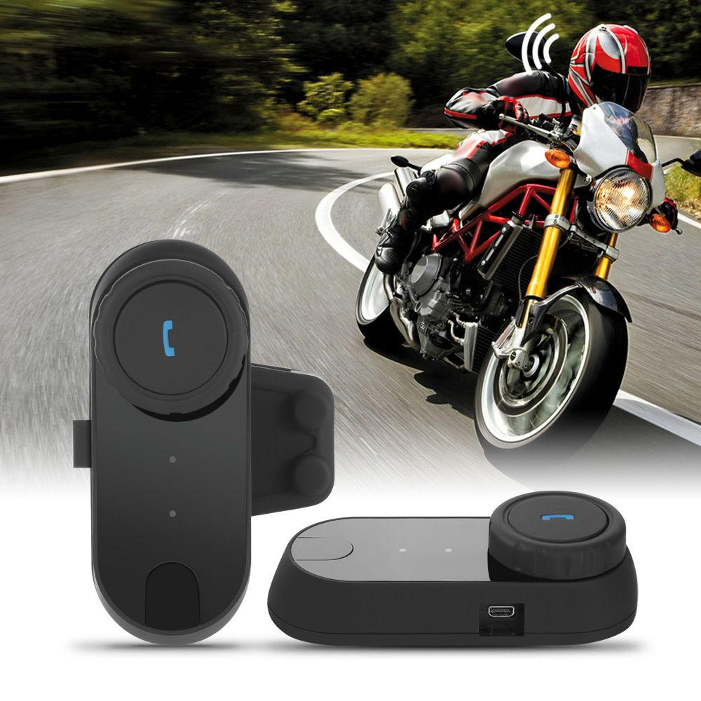 FREEDCONN TCOM-02 1pc Motorcycle Helmet Bluetooth Headset Intercom Communication Kit Wireless BT Interphone For Motorbike Skiing
