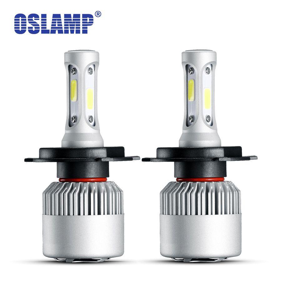 Oslamp 2 pièces H4 phare Led 72 W 6500 K COB Menée Automatique H7 H11 9005 9006 9004 9007 H1 H13 9012 Ampoules de voiture Pour BMW Toyota Golf Peugeot