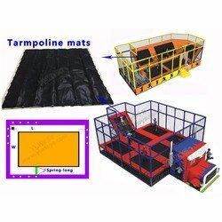 Disesuaikan ukuran trampolin bersih, kebugaran olahraga trampolin tikar, melompat tidur bersih 1.5*2 m