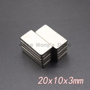 10 Pcs 20mm x 10mm x 3mm N35 Super Strong Néodyme Aimants bloquer Cuboid Rare Earth Aimant 20x10x3mm Chaude vente
