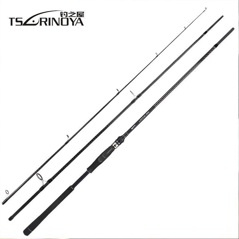 TSURINOYA TYRANTS 1003M FUJI Accessory Bass Rod Long Distance Throwing Spinning Rod 3m 3.3m Carbon Fiber Carp Fishing Rods Pole