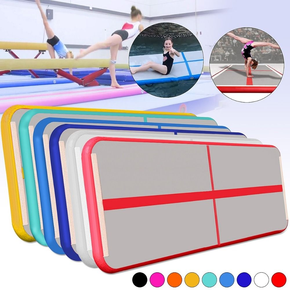 Gofun AirTrack 100x300x10cm Inflatable Tumble Track Trampoline Air Track Floor Home GYM Gymnastics Inflatable Air Tumbling Mat