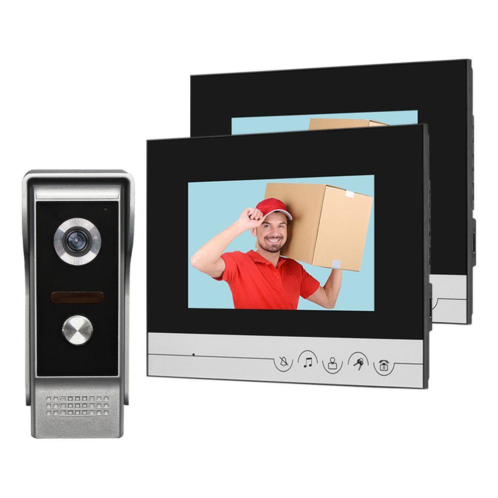 NEUE 7 ''Farbe Verdrahtete Video Intercom System Türklingel Kamera IR CMOS Nachtsicht Metall Wasserdichte 700TVL für Private Haus hause