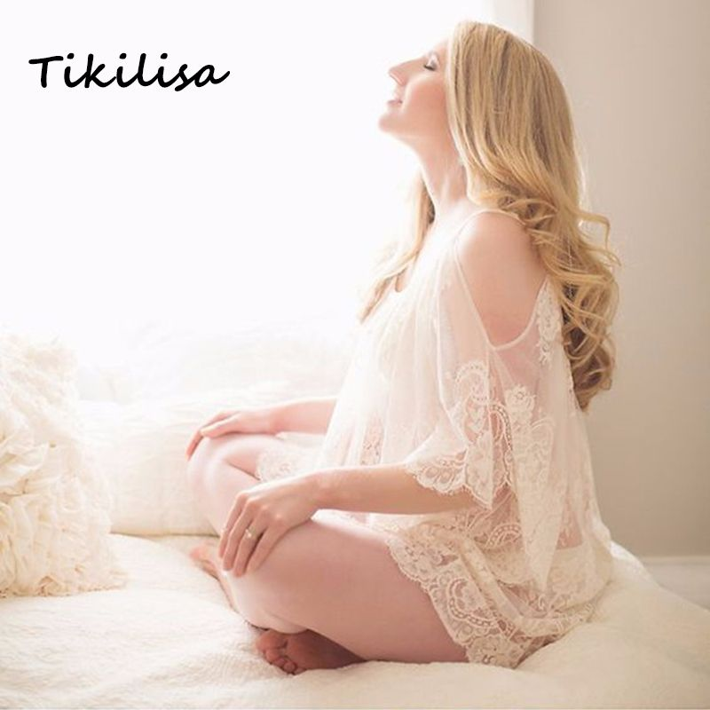 Tikilisa 2017 Maternity Photography Dress Plus Size Casual Lace Dresses Pregnancy Vestidos Beach Dress Photo Shoot