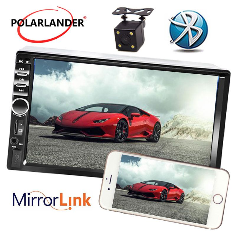 7 Inch USB TF FM AUX Touch Screen Car Stereo Radio 2 DIN MP5 Player with Parking Camera Bluetooth best price Mirror Link