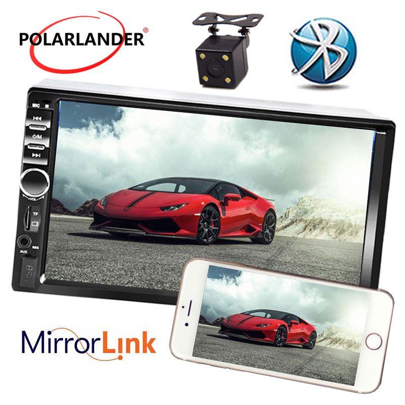 7 zoll USB TF FM AUX Touchscreen Auto Stereo Radio 2 DIN MP5 Player mit Parkplatz Kamera Bluetooth beste preis Spiegel Link