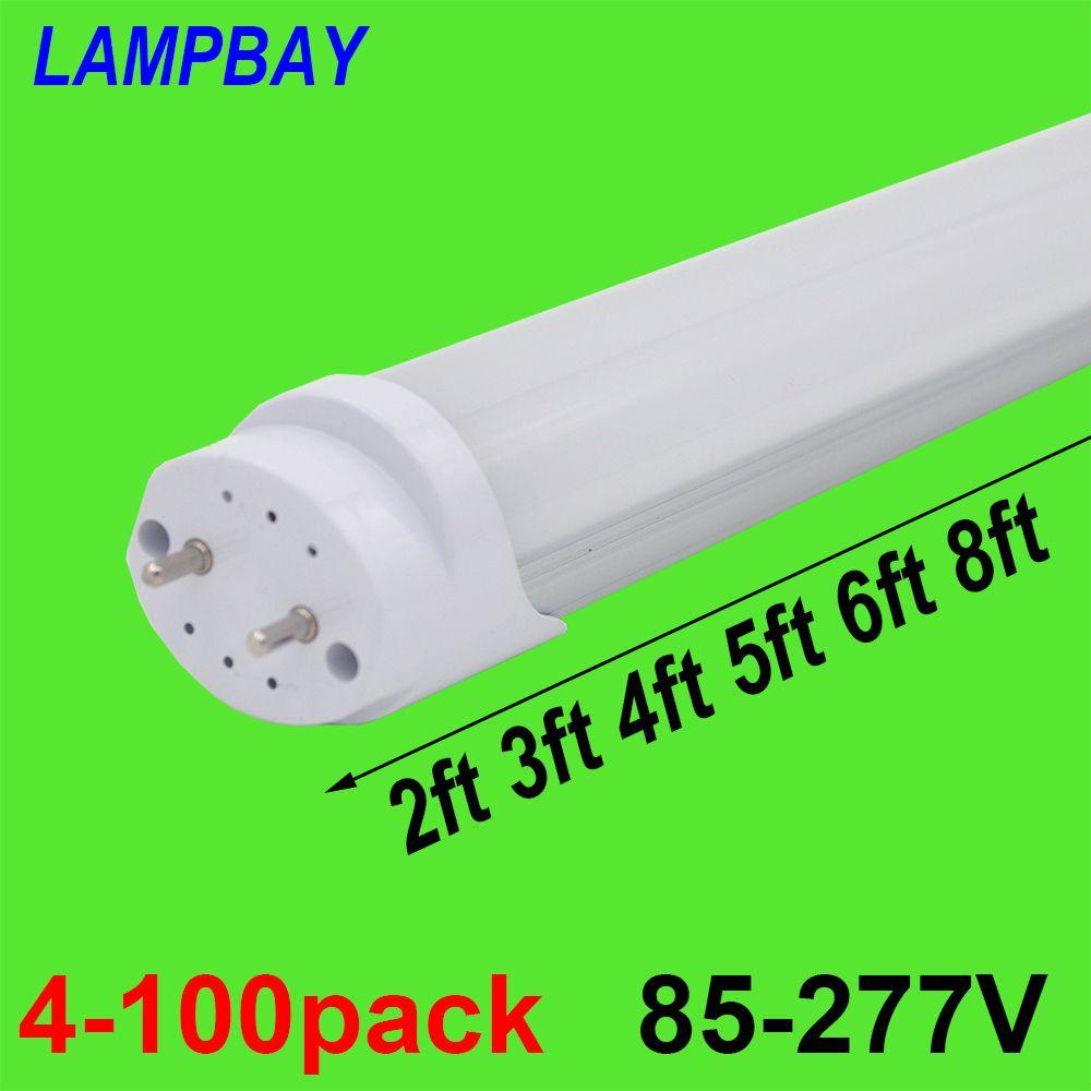 4-100pcs LED Tube Light 2ft 3ft 4ft 5ft 6ft Retrofit Bulb T8 G13 Bi-pin Fluorescent Lamp 0.6m 0.9m 1.2m 1.5m 1.8m Bar Lighting