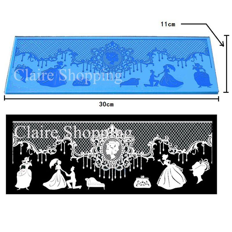 Yueyue Sugarcraft Royal silicone dentelle moule fondant moule gâteau décoration outils chocolat gumpaste moule mariage gâteau decoraton