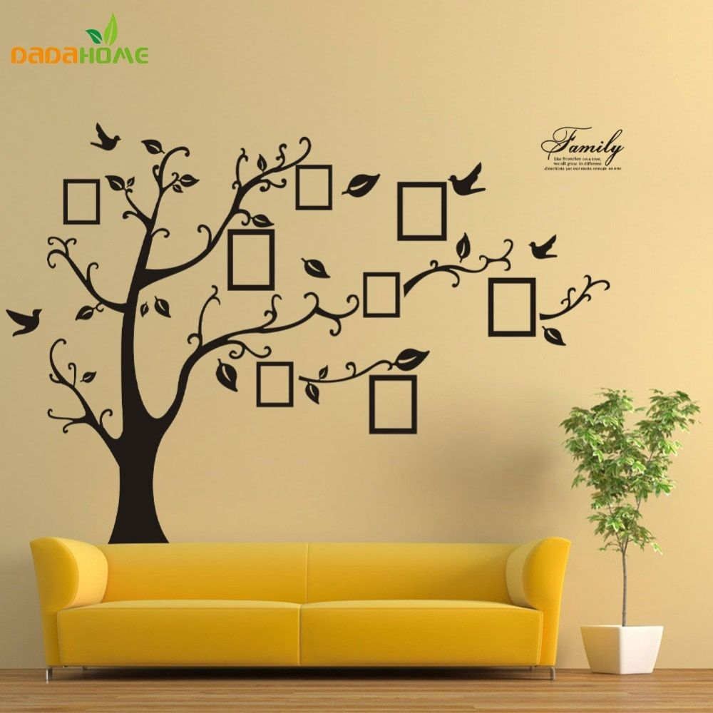Large Black Vinyl Wall <font><b>Stickers</b></font> Record Forever Memory Tree Original PVC Creative Hot Selling Wall Decals Home Decoration