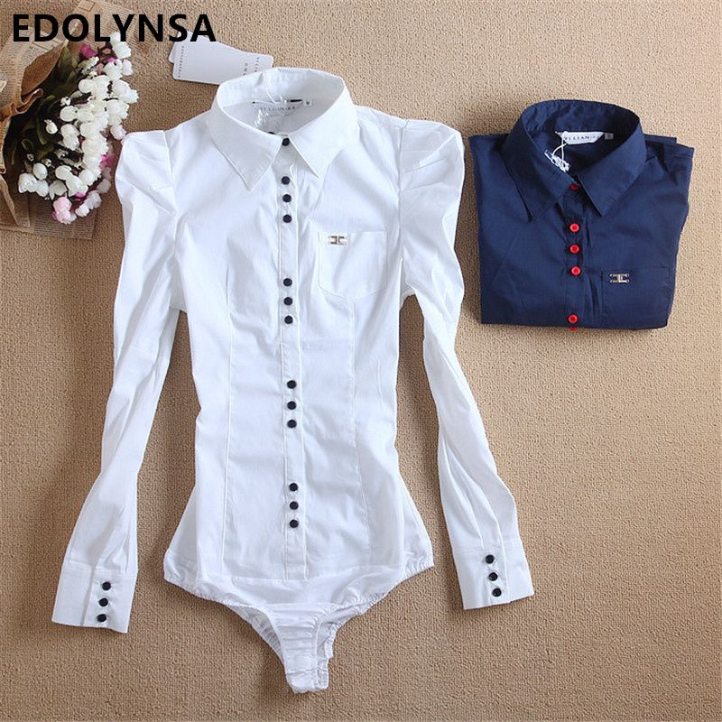 Neuheiten Frauen Körper Bluse Hemd Langarm Blusas Elegante Tops Weibliche Tunika Blusen Feminina Solide Blusa Plus Größe # b8