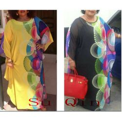 Sifon Fesyen Baru Ukuran Super Afrika Longgar Panjang Dashiki Pakaian Tradisional untuk Wanita (XF02)